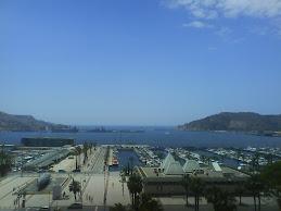 El puerto de Cartagena desde La Muralla