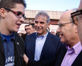 Con el President Montilla y el Alcalde Enric Llorca