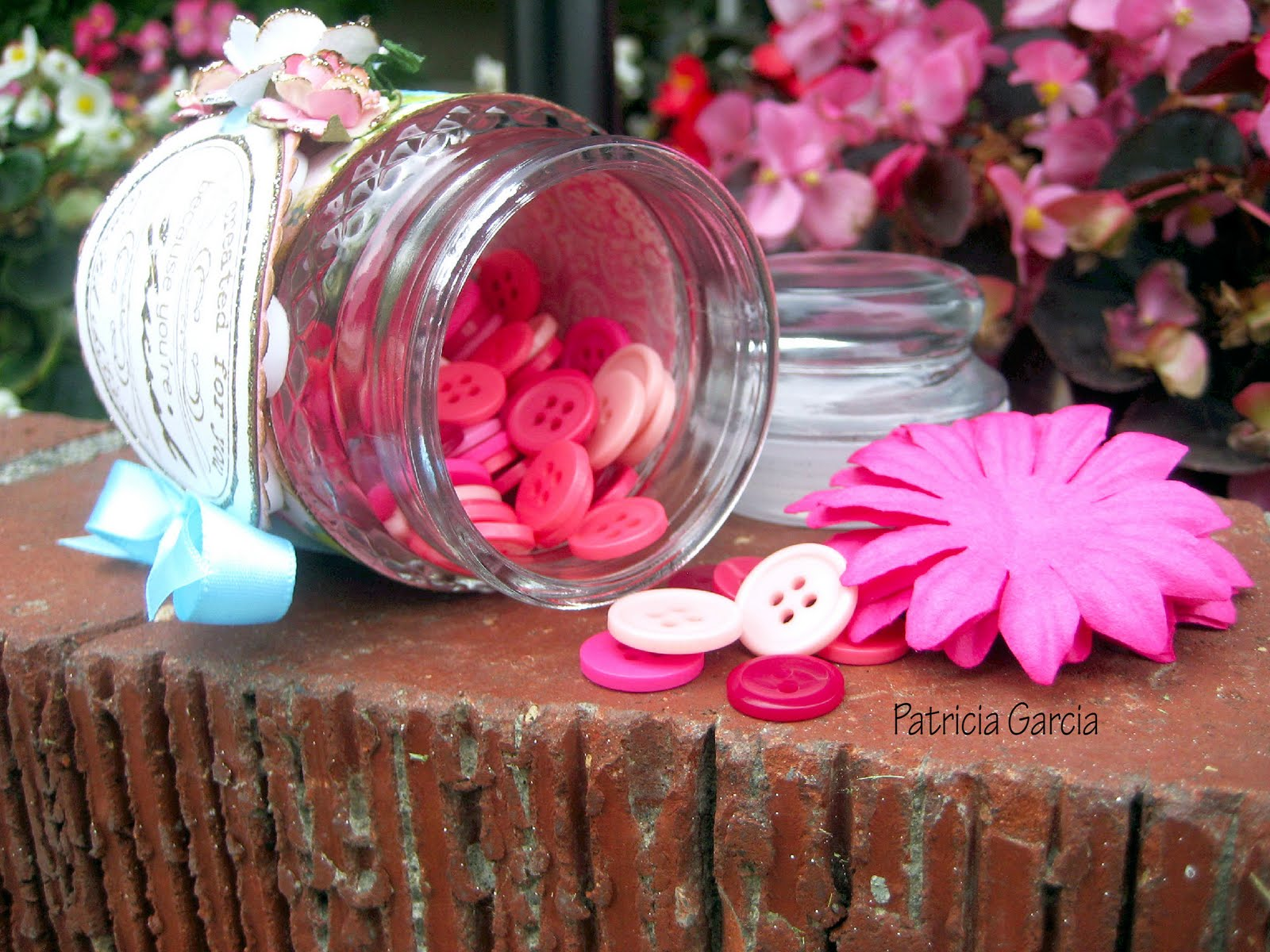 Patricia Garcia: Altered Candle Jar.......