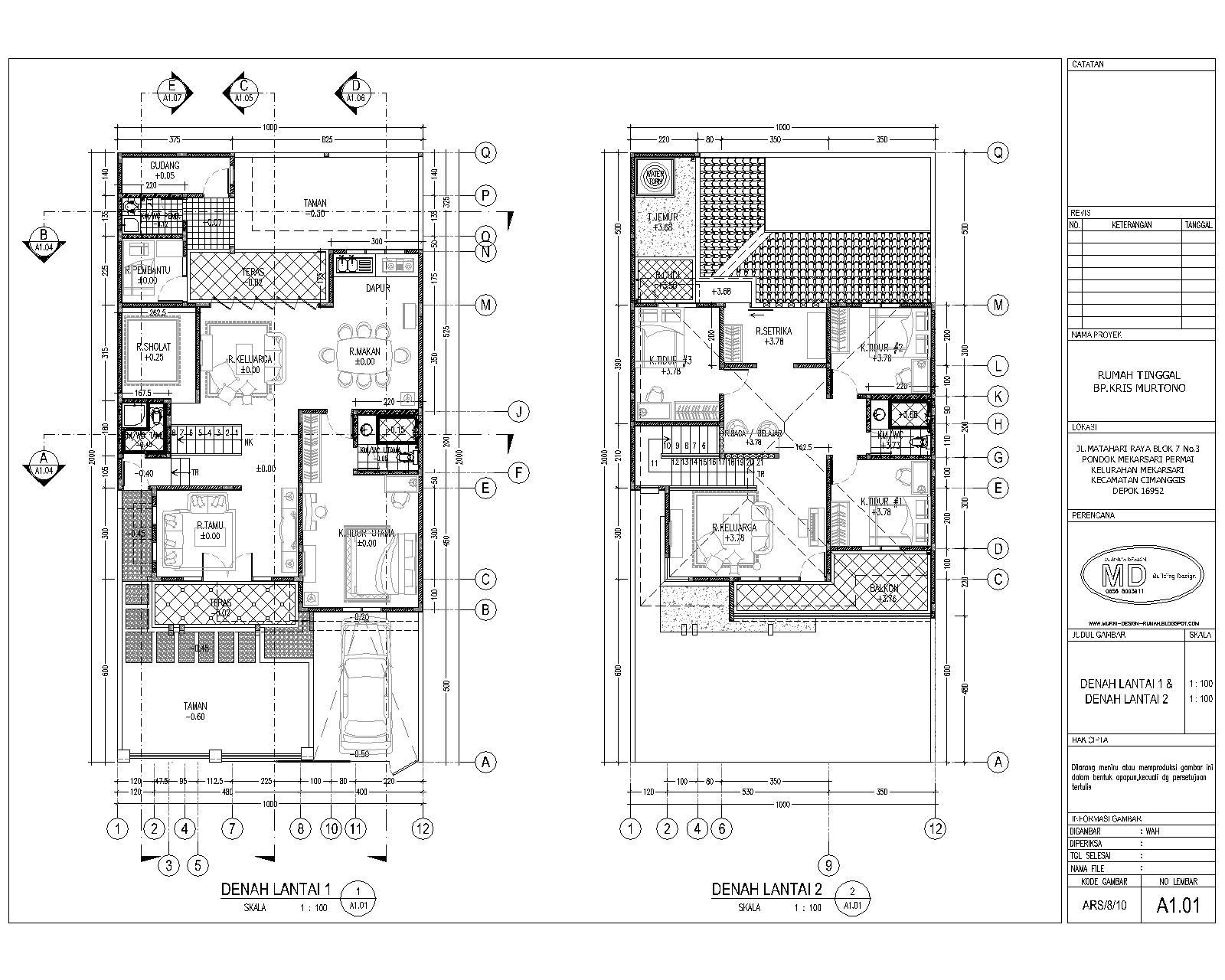 desain rumah 15rb m2 contoh gambar cad