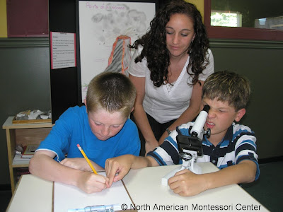 why do I teach NAMC montessori teachers and students microscope