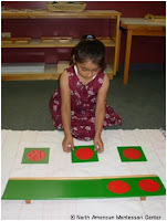 NAMC montessori curriculum explained materials activities philosophy girl with materials