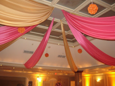 The FAB Ceiling Swag done by Pedestals The Gobo based on the original logo I