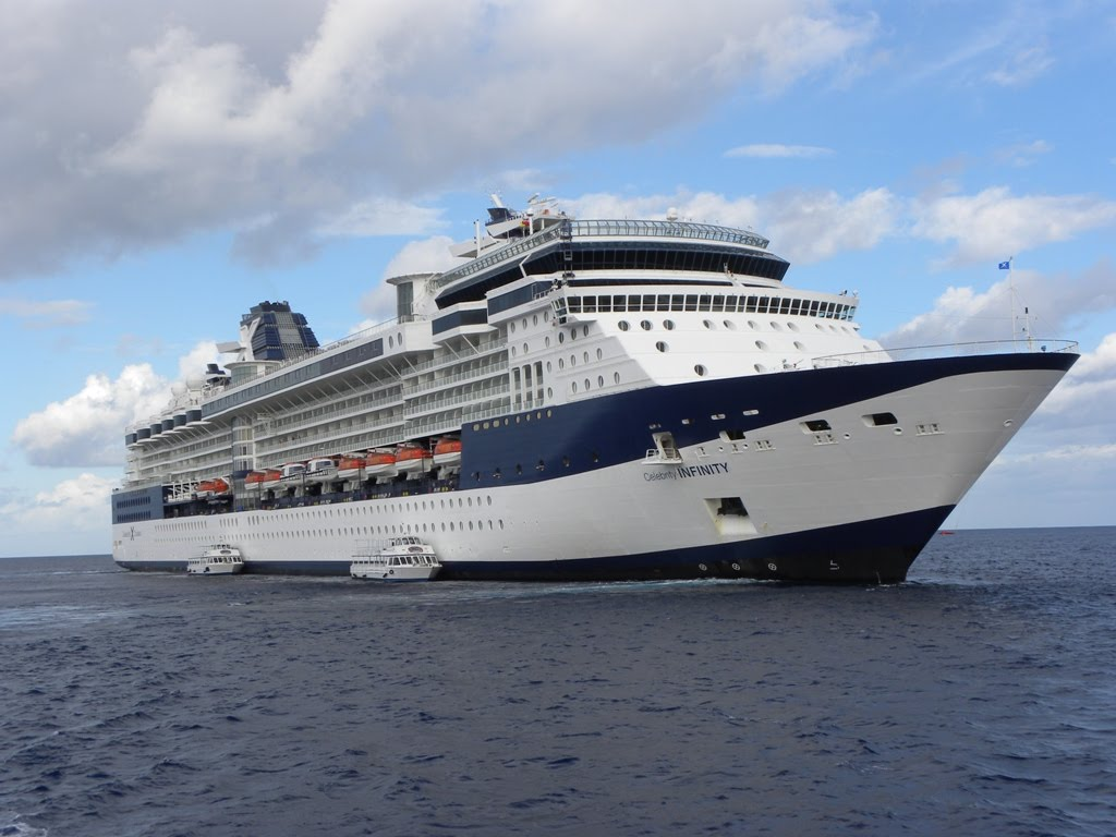 Celebrity Infinity, the schip of our first cruise