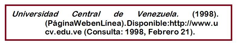 APA (uso del formato, aPA con material de la, web )