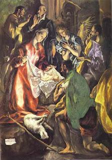 Adoration of the Shepherds (detail) 1596-1600 El Greco (Domenikos Theotokopoulos)