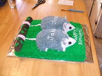 Baby Opossum Birthday Cake