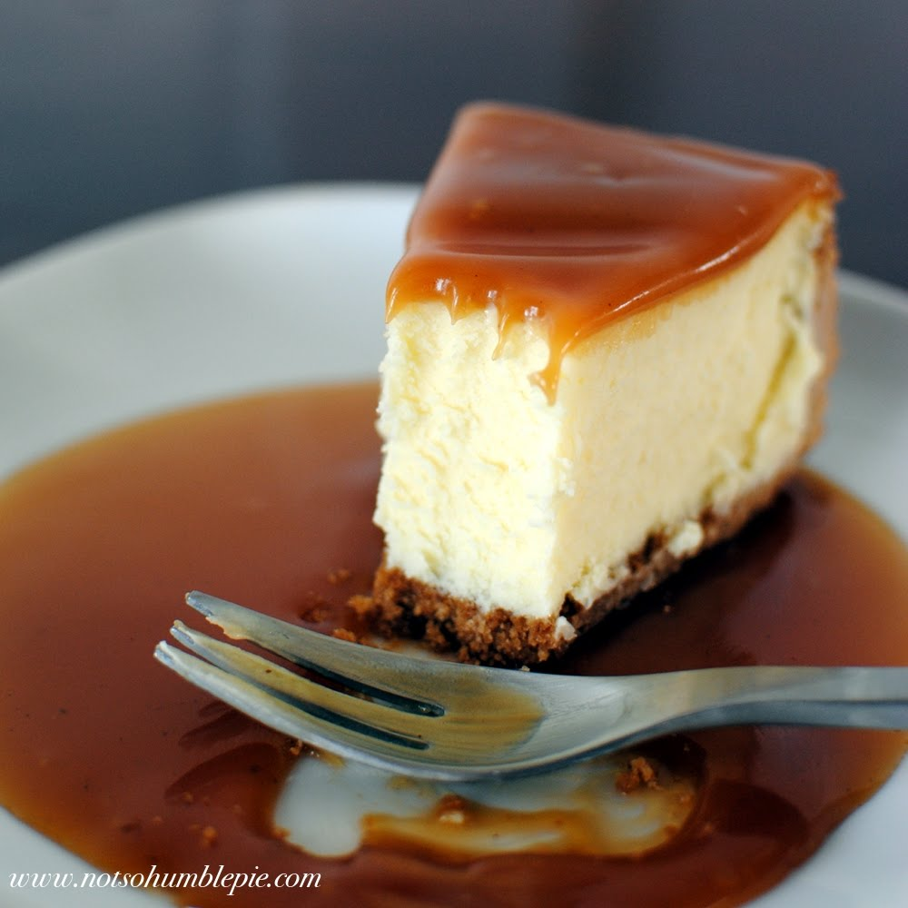 White Chocolate Mascarpone Cheesecake With Salted Caramel And ...