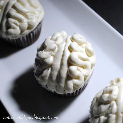 Not So Humble Pie: Chocolate Ganache Filled 'Brain' Cupcakes