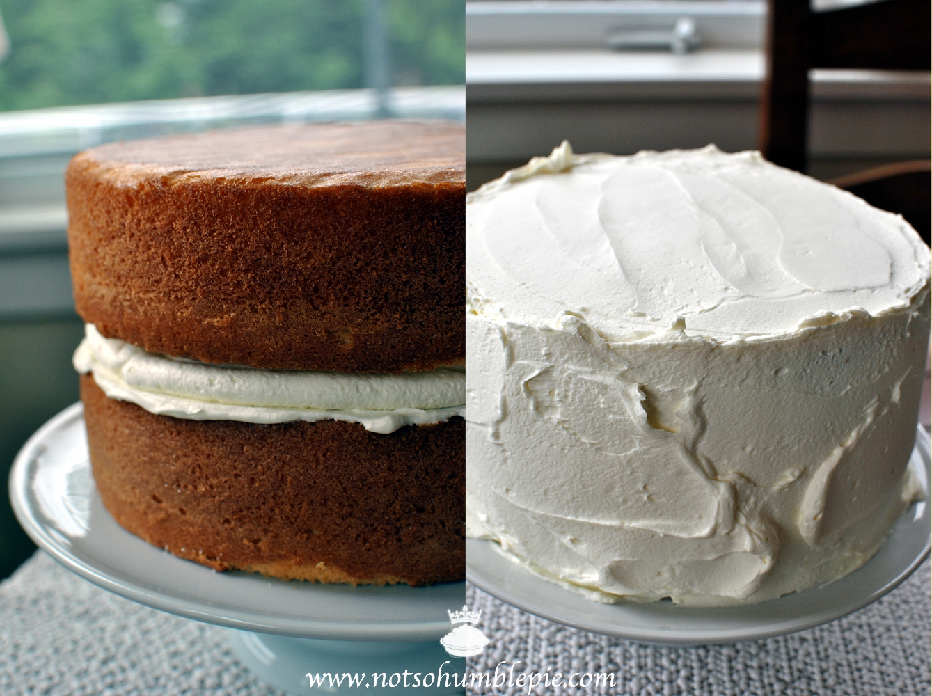 cake gently place the second layer of cake on top