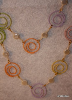 set crafty jewelry: necklace and earring ideas and tutorial