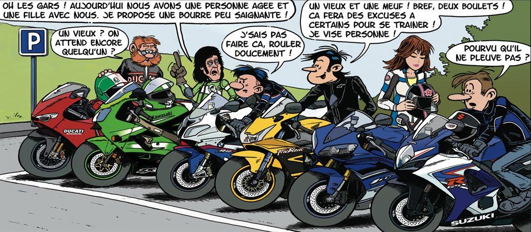 "La moitié de la ""bande "" on the run !"