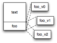 illustration of multiple variants of foo()