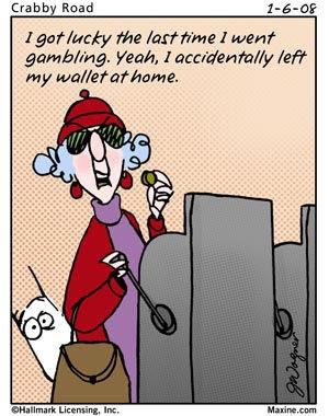 Gambling cartoon