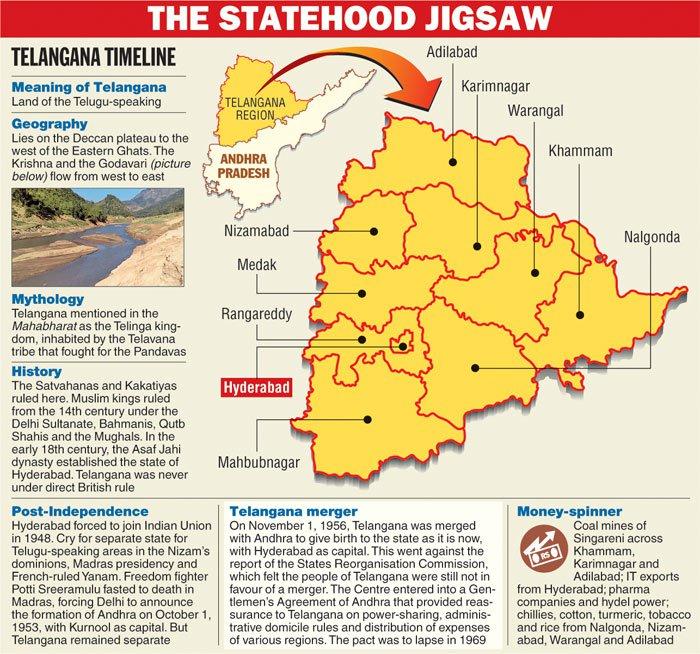 Telangana Map