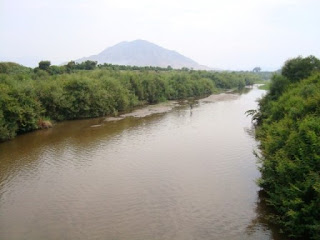 Río Zaña colmatado