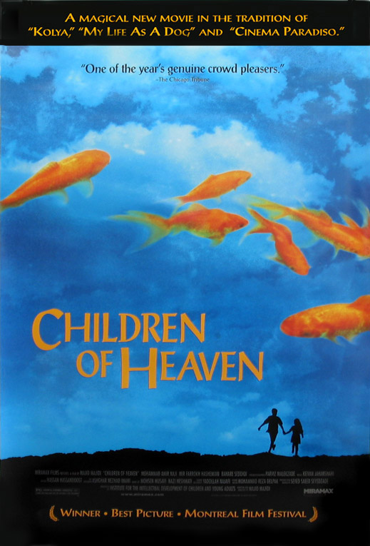children of heaven The room was filled with students, staff, and faculty professor sassan tabatabai  introduced the film, children of heaven (1997), and provided some background.