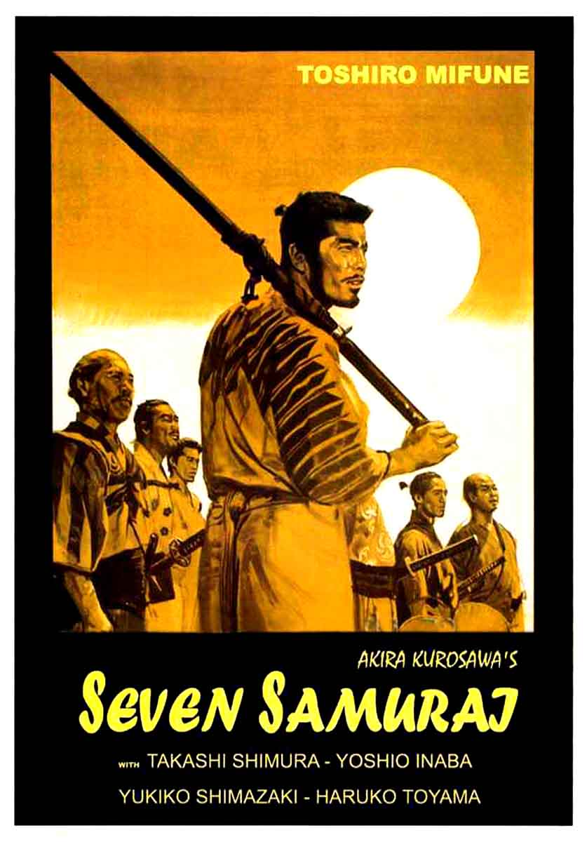 seven samurai A samurai answers a village's request for protection after he falls on hard times the town needs protection from bandits, so the samurai gathers six others to help him teach the people how to.