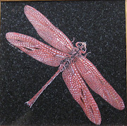Red Dragonfly one of a kind Tile