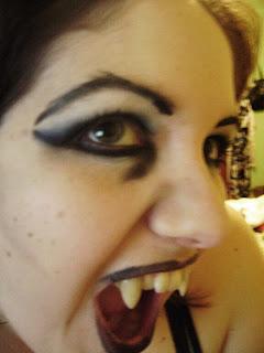 Maquillage gothique vampiresse
