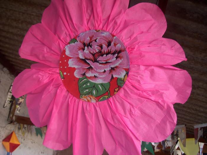 Flor de crepom e xita