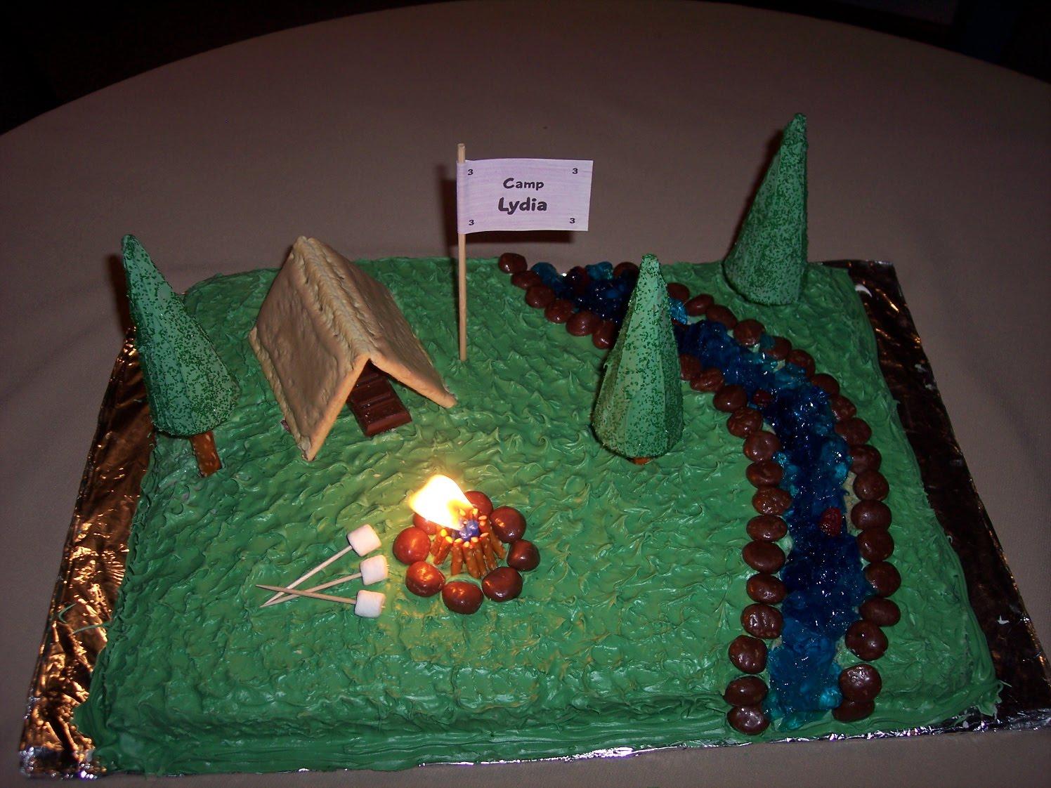 Cake Decorating Ideas Outdoors : Camping Cake - Kids Activities Saving Money Home ...