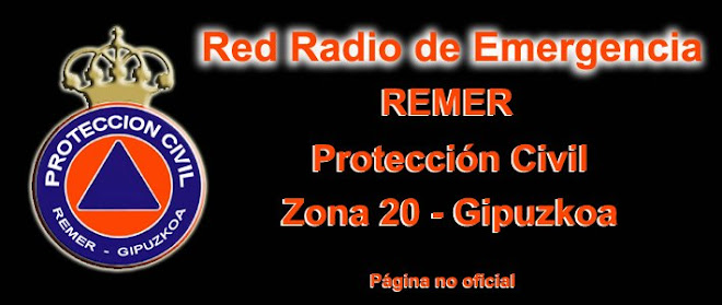 RED RADIO de EMERGENCIA (REMER) Gipuzkoa, País Vasco. Página no oficial.