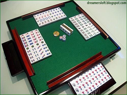 dreamersloft mini mahjong amp table set