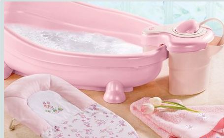 summer soothing spa and shower baby bath boy colors