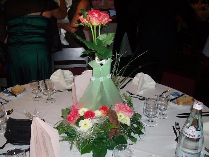 decoração de cada mesa do batizado