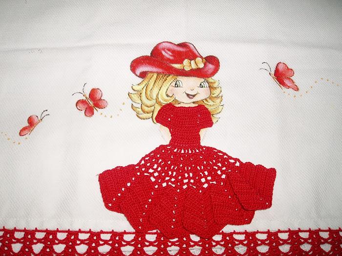 boneca pintura /crochet