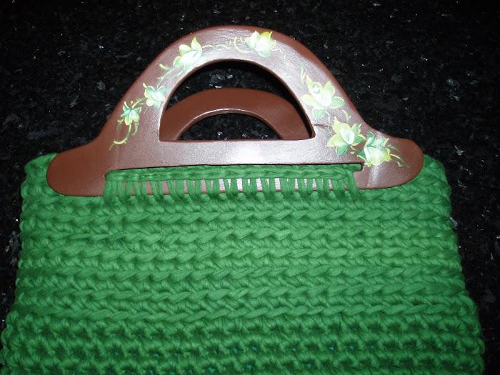 mala verde de trapilho