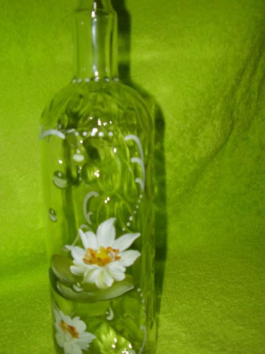 garrafa pintada a mao