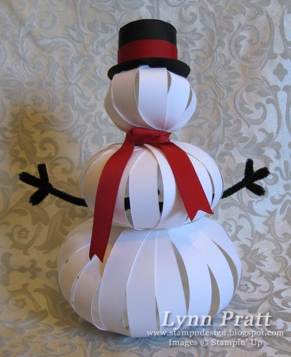 Поделка снеговик из бумаги своими