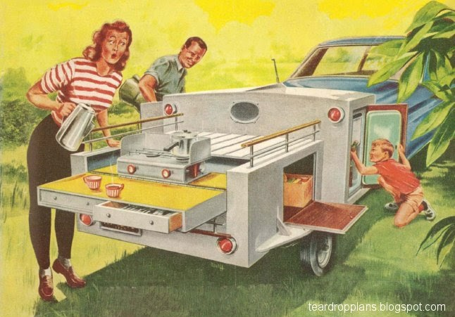Vintage Teardrop Trailer Campers Chuck Wagon Plans  Chuck Wagon Plans