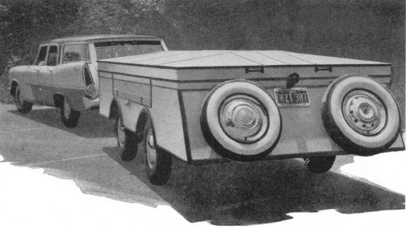 Vintage Teardrop Trailer Campers Chuck Wagon Plans: Fold Down Camper