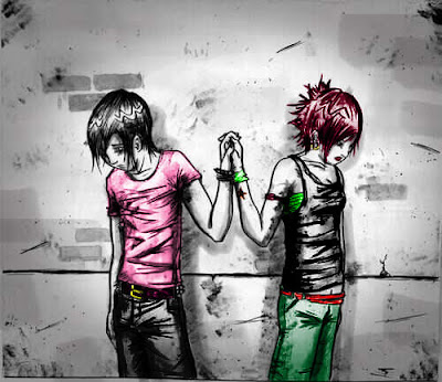 Cute Anime Emo Pictures. anime emo love wallpaper. cute