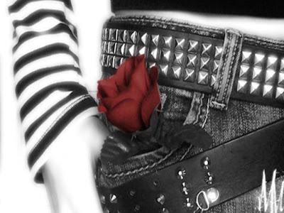 Emo Red Rose