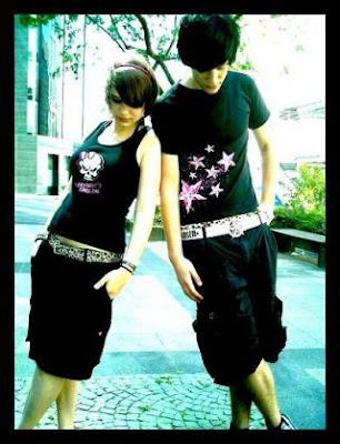 emo love girl and boy