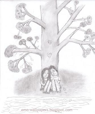 emo anime love drawings. easy emo love drawings. emo