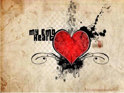 wallpaper heart emo. MY EMO HEART
