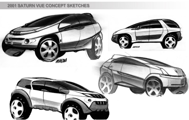 2001 saturn VUE concept sketches