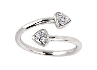 White Gold Diamond Toe Ring