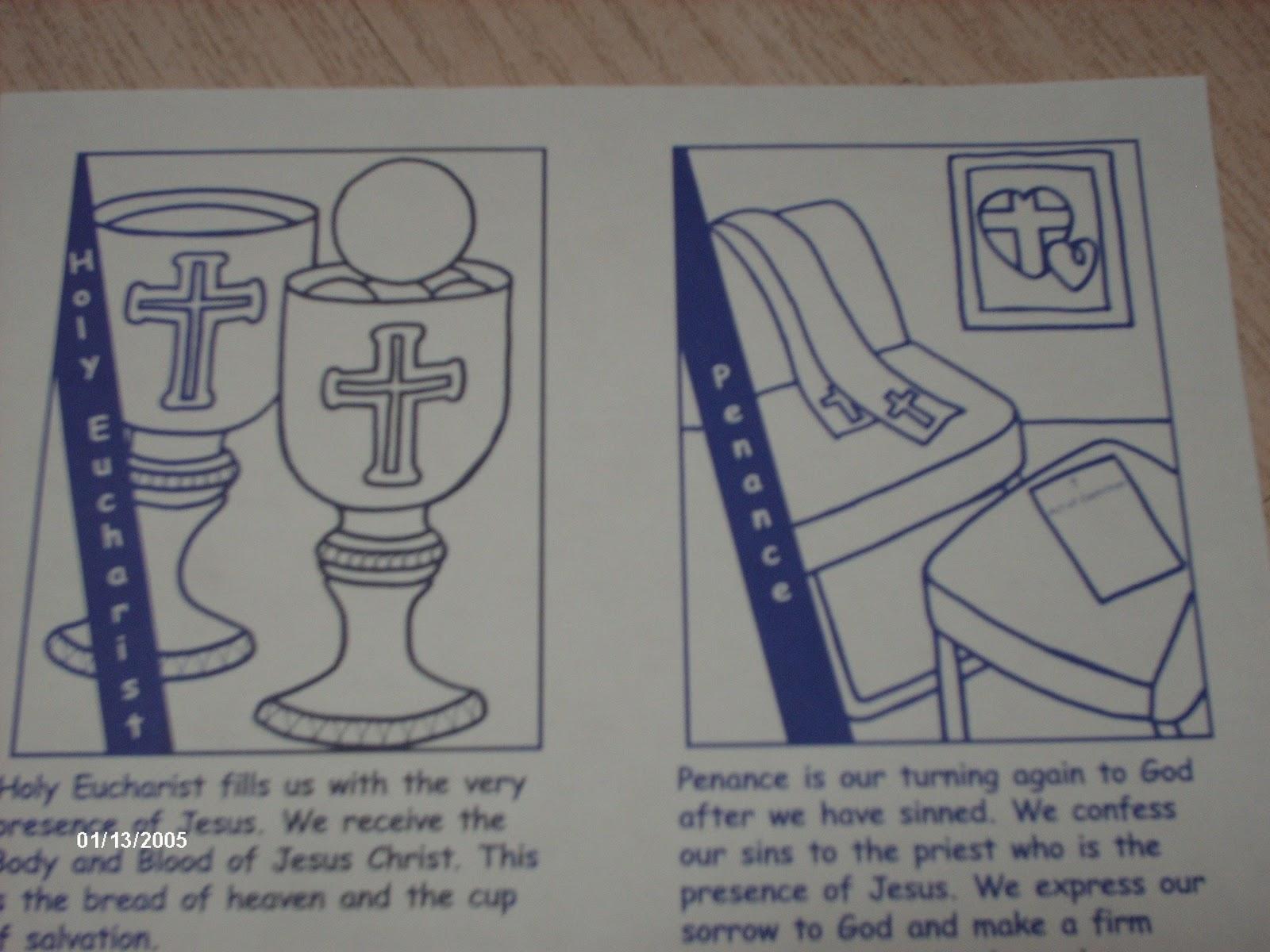 Familia Católica: Páginas para Colorear de los Sacramentos