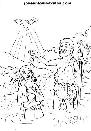 Familia Católica: Páginas para Colorear del Bautismo del Señor