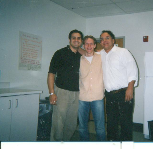 Me on right and 2 cool guys at DEAF COMMUNICATIONS CENTER job here; layoffs came, though. Oh, well.