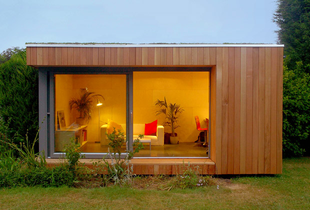 Ink wit home office vs out of home office modern shed for Building a home office in backyard