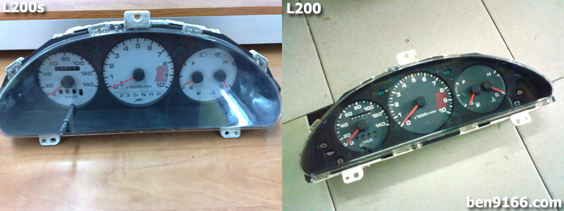 How to differentiate daihatsu mira l200 and l200s car enthusiast the next different is the dash meter for mira l200s the meter is white color while for mira l200 is black color above is the comparison picture for both swarovskicordoba Choice Image