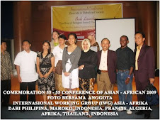 FOTO BERSAMA ANGGOTA INTERNASIONAL WORKING GROUP FOR ASIA AFRIKA TO GLOBALIZED