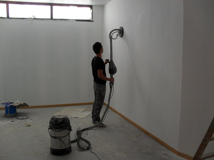 lixagem de paredes